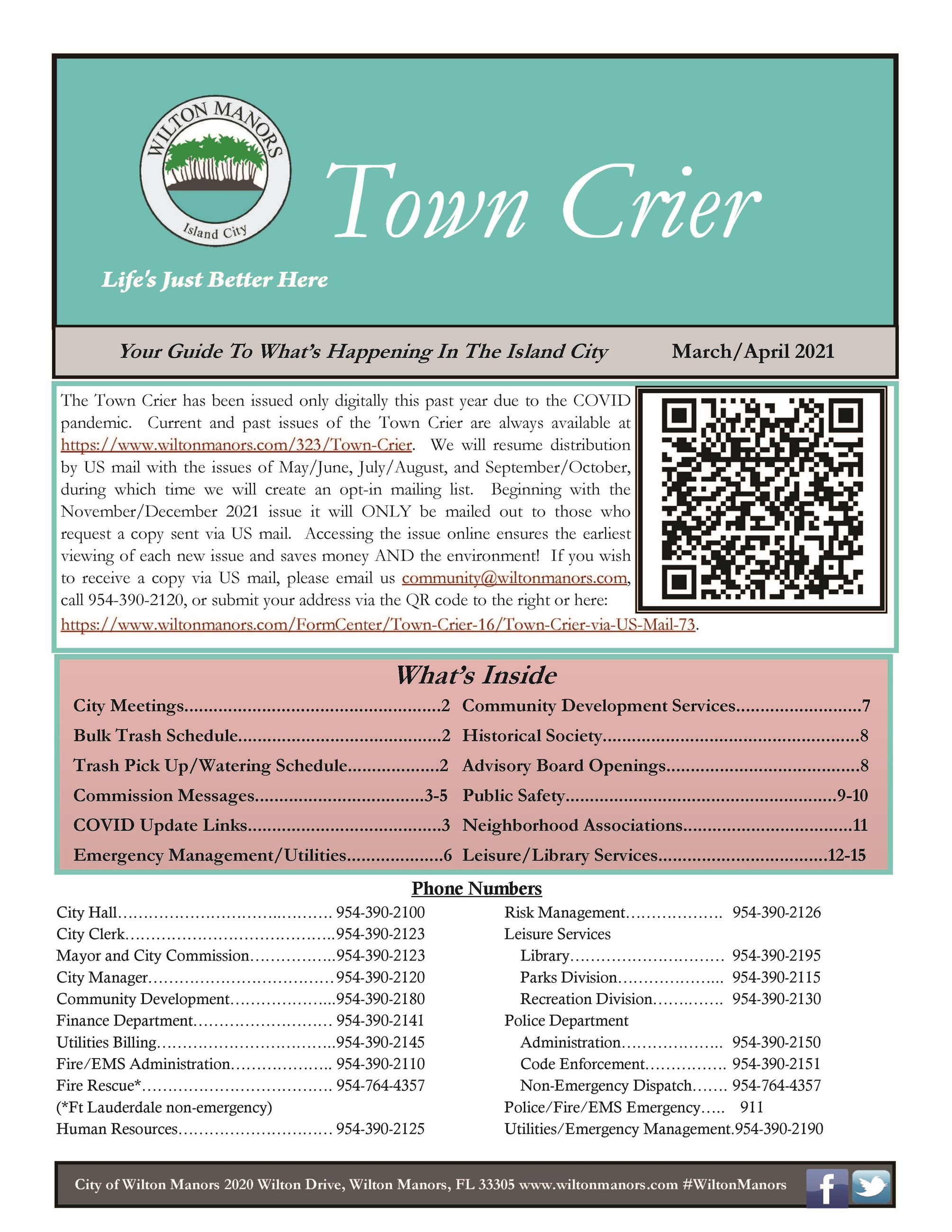 Town Crier March-April 2021 pg1